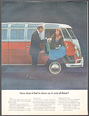 1963 Vw Volkswagen Bus Original Magazine Ad