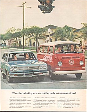 1971 Vw Volkswagen Bus Original Magazine Ad
