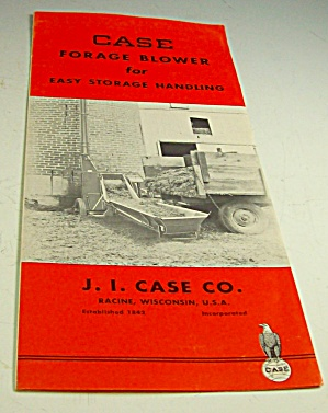 1950s? Case Tractor Forage Blower Brochure