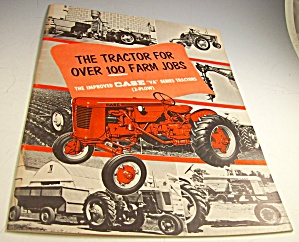 1953? Case Va Series Farm Tractor Color Catalog
