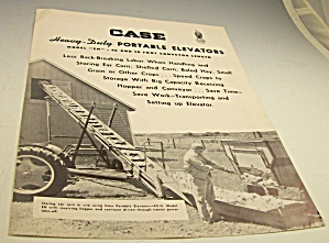1953?case Tractor Portable Elevators Dealer Brochure