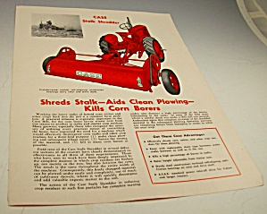 1953? Case Tractor Stalk Shredder Dealer Brochure
