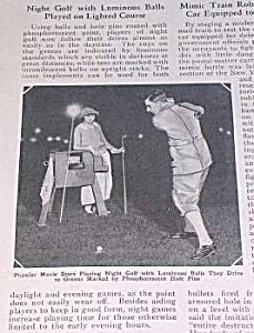 1925 Night Golf/luminous Balls Mag. Article