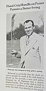 1941 Pistol-grip Putter Golf Magazine Article