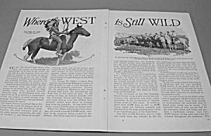 1927 Wild West - Oklahoma Mag. Article