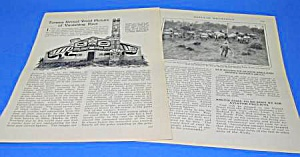 1927 Alaskan Indian Totem Poles Mag Article