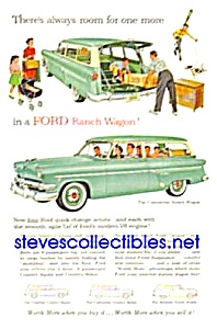 1954 Ford Ranch Wagons Auto Magazine Ad