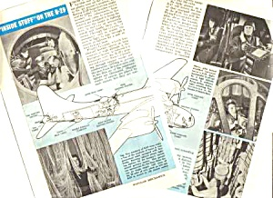 1945 Inside The B-29 Aircraft Aviation Mag. Article