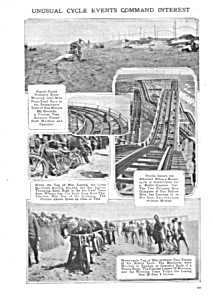 1917 Motorcycle - Roller Coaster +stunts Mag. Article