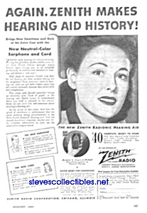 1944 Zenith Hearing Aid Ad