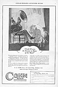 1927 Conn Band Instrument Music Room Ad