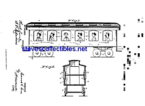 Patent Art: 1890s Ives Toy Train Car