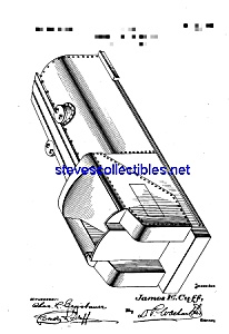 Patent Art: 1920s American Flyer Toy Locomotive Tender