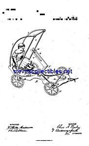 Patent Art: 1880s Bailey Cast Iron Toy Swing Cart