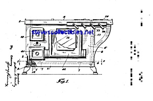 Patent Art: 1920s Grey Cast Iron Toy Stove