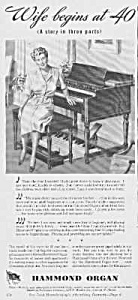 1944 Hammond Organ Music Room Ad