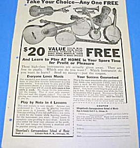 1925 Slingerland Guitar+ Music Room Ad