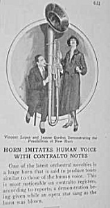 1927 Musical Horn That Duplicates Human Voice Article