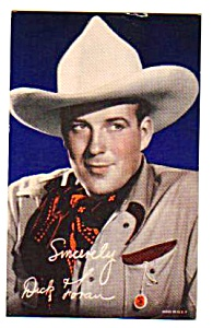 1940s Dick Foran Cowboy Color Penny Arcade Card