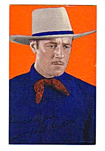 1940s Jack Holt Cowboy Color Penny Arcade Card