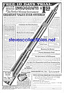 1927 Inkograph Fountain Pen Ad