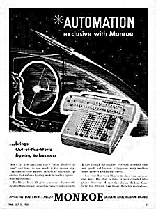 1955 Monroe Monster Calculator Adding Machine Ad