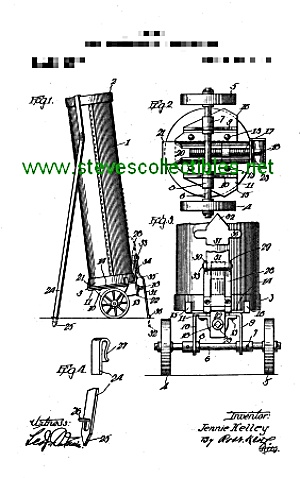 Patent Art: 1917 Wheeled Golf Bag - Matted
