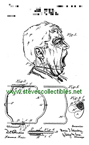 Patent Art: 1907 Scary Dental Apparatus - Matted Print
