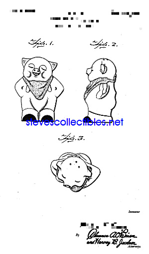 Patent Art: 1940s Shawnee Smiley Pig Shaker