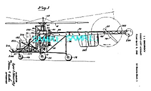 Patent Art: 1940s Sikorsky Helicopter - Matted