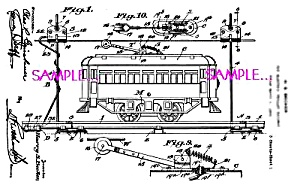 Patent Art: 1920s American Flyer Toy Trolley Street Car