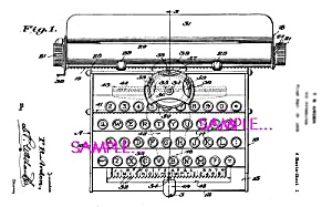 Patent Art: 1930s American Flyer Toy Typewriter
