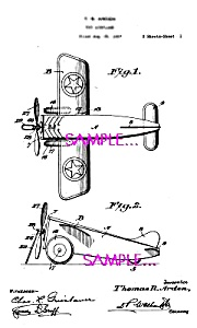 Patent Art: 1920s American Flyer Toy Airplane