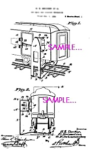 Patent Art: 1920s American Flyer Train Mailbag Loader