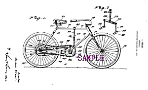 Patent Art: 1920s Bicycle D - Matted Print