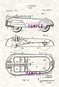 Patent Art: 1940s American Metalcraft Toy Wagon -matted