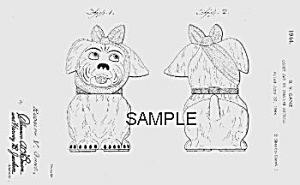 Patent Art: 1940s Shawnee Muggsy Cookie Jar - Matted