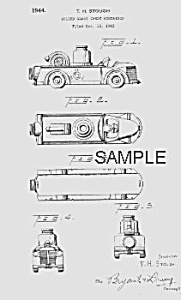 Patent Art: 1940s Firetruck Candy Container - Matted