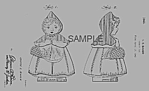Patent Art:1940s Hull Red Riding Hood Cookie Jar Patent