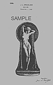 Patent Art: 1920s Art Deco Nude Female Bookend