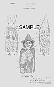 Patent Art: 1930s Holiday Candy Containers - Matted