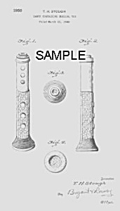 Patent Art: 1950s Musical Candy Container - Matted