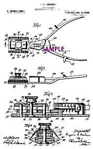 Patent Art: 1920s Hair Clippers B - 8x10 - Matted