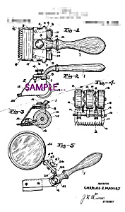 Patent Art: 1920s Hair Clippers C - 8x10 - Matted