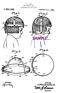Patent Art: 1920s Hair Trimming Gage Funny - 5x7