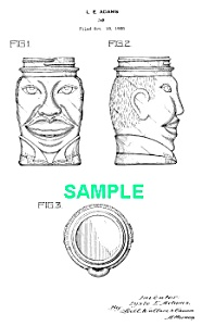 Patent Art: 1930s Lucky Joe Louis Glass Bank-boxing