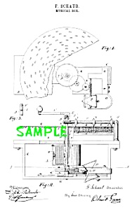 Patent Art: 1800s Criterion Disk Music Box - Matted