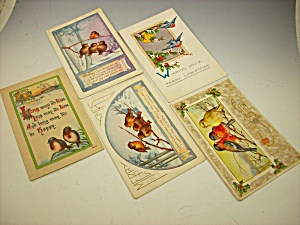 Box Lot Of 7 Early Bird Postcards