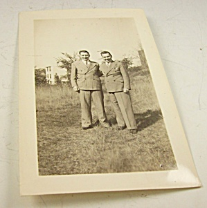 Original Photo-two Men Affectionate 1940s-gay Int.