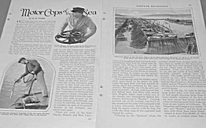 1927 Motor Cops Of The Sea Magazine Article